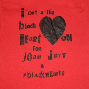 Vintage 80S JOAN JETT AND THE BLACKHEARTS TOUR T-Shirt