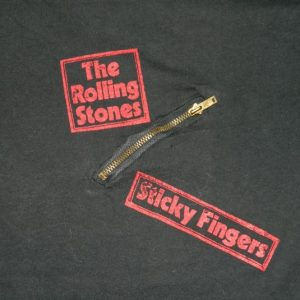 Vintage 1971 ROLLING STONES STICKY FINGERS PROMO T-SHIRT 70S