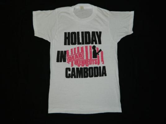 Vintage DEAD KENNEDYS 80s Holiday In Cambodia T-Shirt punk