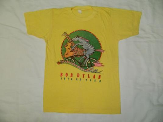 Vintage BOB DYLAN 1978 U.S. Tour T-shirt Original 70's