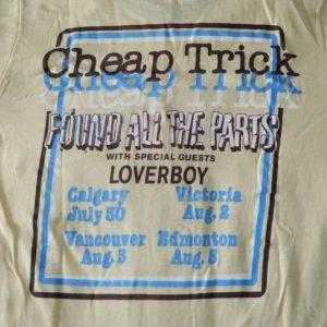 Vintage CHEAP TRICK LOVERBOY 1980 WORKING CREW TOUR T-Shirt