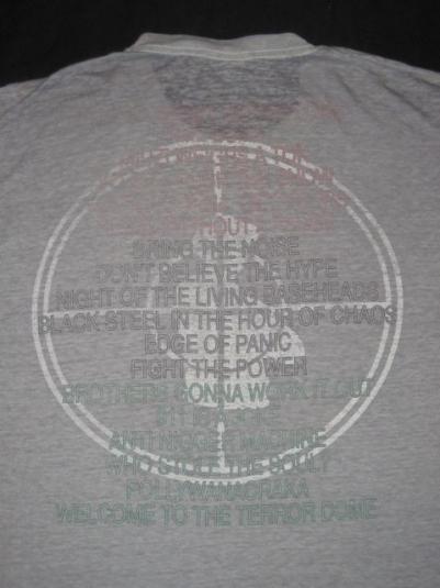 vintage PUBLIC ENEMY '90 FEAR OF A BLACK PLANET TOUR T-Shirt