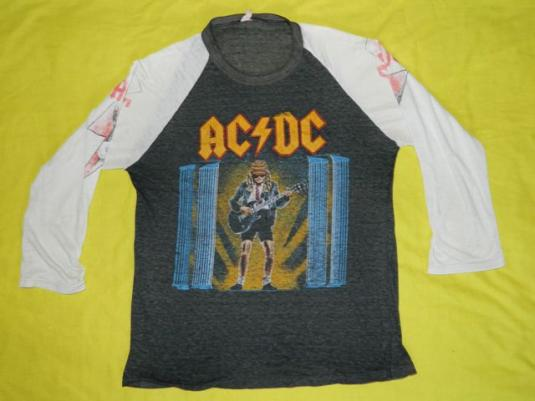 Vintage AC/DC 1986 Tour Jersey T-Shirt Who Made Who concert