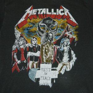 Vintage METALLICA 1986 CLIFF BURTON LIVES ON T-Shirt 80s