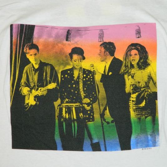 Vintage THE B-52'S XXXL SCREEN STARS 1989 tour t-shirt b-52s