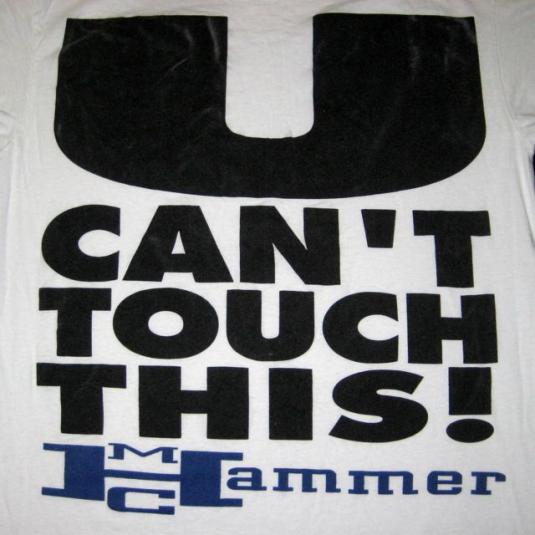 vintage MC HAMMER 1990 U CAN'T TOUCH THIS T-Shirt 90s dance