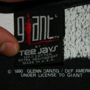 Vintage DANZIG UNCENSORED 1990 T-Shirt