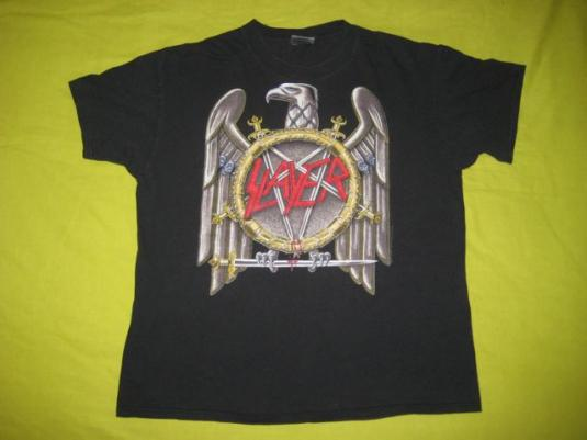 vintage SLAYER 1990 SEASONS IN THE ABYSS T-Shirt Original XL
