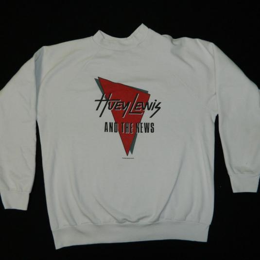 Vintage HUEY LEWIS AND THE NEWS 80S TOUR SWEATSHIRT t-shirt