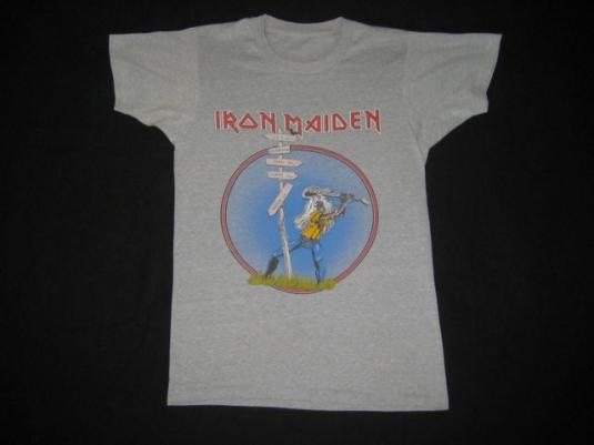 vintage IRON MAIDEN THE BEAST AT READING 1982 TOUR T-Shirt