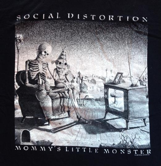 Vintage SOCIAL DISTORTION T-SHIRT 90s mommy's little monster