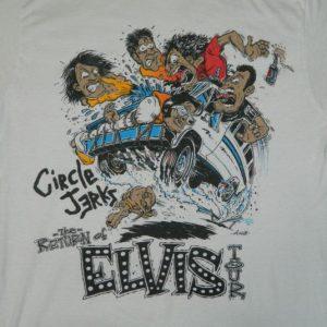 Vintage CIRCLE JERKS 1988 THE RETURN OF ELVIS TOUR T-Shirt