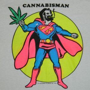 Vintage CANNABISMAN 80S DEAD STOCK T-Shirt pot marijuana nos