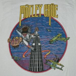 Vintage MOTLEY CRUE T-SHIRT FROM THE BAND! NEW YORK TOUR 80s