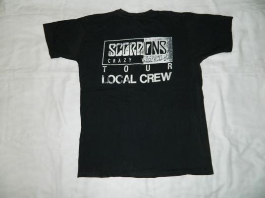 Vintage SCORPIONS LOCAL CREW 1990 Tour T-shirt xl