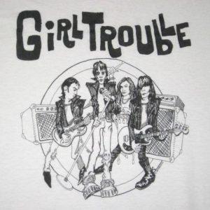 vintage GIRL TROUBLE CONCERT T-Shirt Sub Pop tour