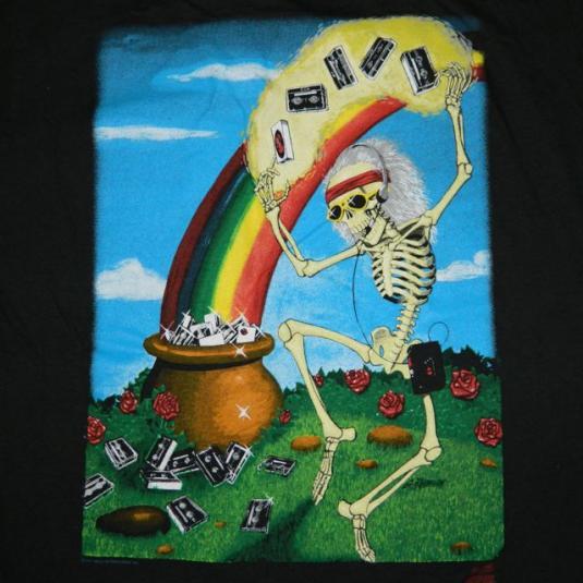 Vintage GRATEFUL DEAD G KROMAN ART 1991 T-Shirt 90s