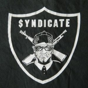 Vintage RHYME SYNDICATE RECORDS T-SHIRT ICE-T OG HIP HOP RAP