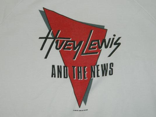 Vintage HUEY LEWIS AND THE NEWS 80S FORE! SWEATSHIRT t-shirt