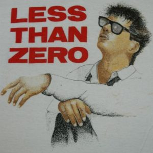 vintage LESS THAN ZERO 80S T-Shirt movie robert downey jr