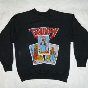 Vintage TRIUMPH 1986 TOUR SWEATSHIRT 80S Original t-shirt