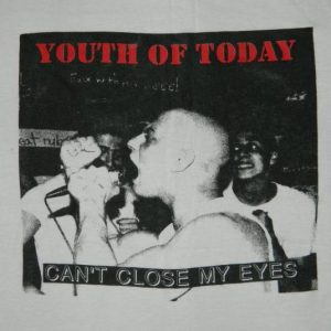 Vintage YOUTH OF TODAY 80S T-Shirt XL YOT SXE ORIGINAL NYHC