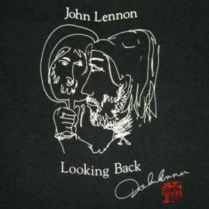 vintage JOHN LENNON LOOKING BACK 80S T-Shirt dead stock