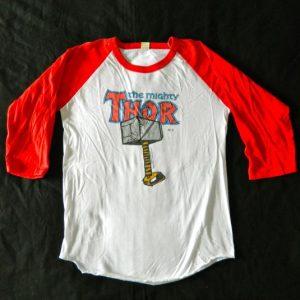 Vintage 1984 THOR MARVEL COMICS JERSEY T-Shirt 80s