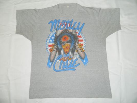 Vintage MOTLEY CRUE 1987 Tour T-Shirt Allister Fiend XL