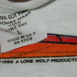 Vintage NOS ZZ TOP 1986 AFTERBURNER L/S TOUR T-Shirt concert