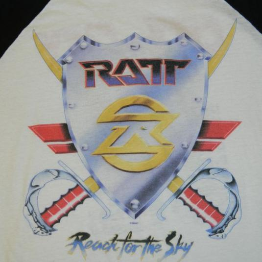 Vintage RATT 1989 Reach For The Sky Tour T-shirt Jersey