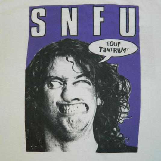 Vintage SNFU 1988 Tour T-shirt 80s Punk XL Original concert