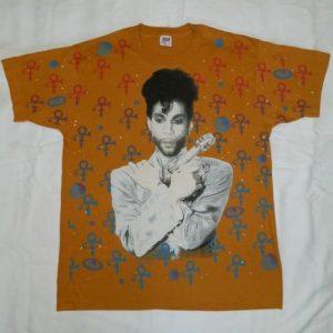 Vintage PRINCE 1993 TOUR T-Shirt Allover print 90s concert
