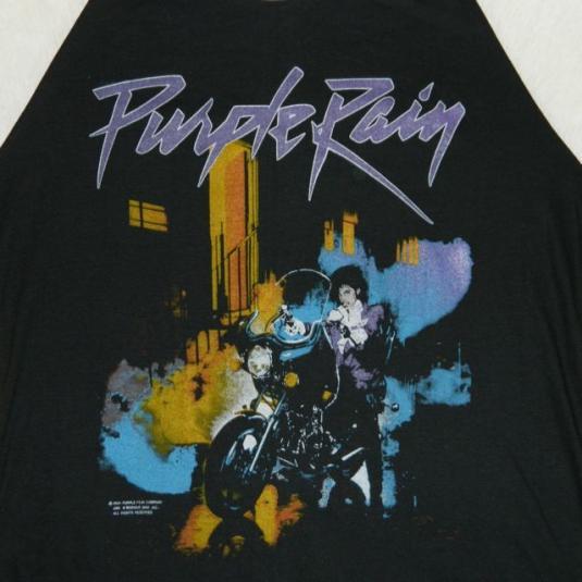 Vintage PRINCE PURPLE RAIN MEDIUM 1984 Tour JERSEY T-Shirt