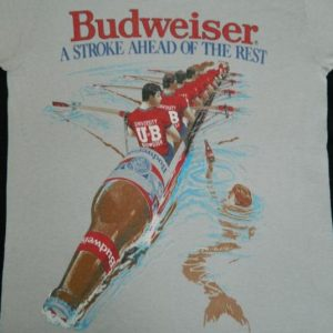 "vintage 80s BUDWEISER BEER ""A STROKE AHEAD"" T-Shirt"