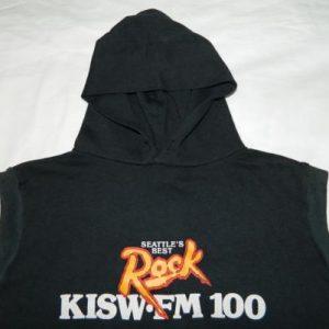 Vintage 80S KISW SEATTLE'S BEST ROCK HOODY VAN HALEN t-shirt