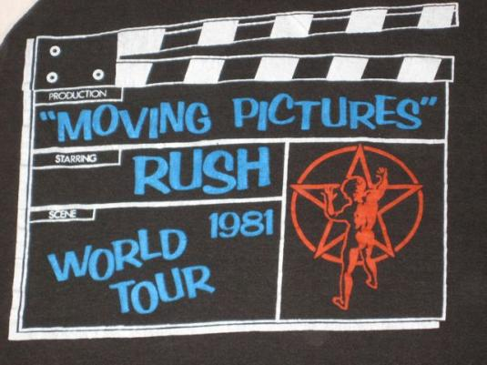 vintage RUSH 1981 MOVING PICTURES TOUR JERSEY T-Shirt 80s