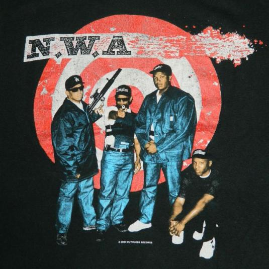 Vintage N.W.A. 1990 JUST DON'T BITE IT T-Shirt nwa