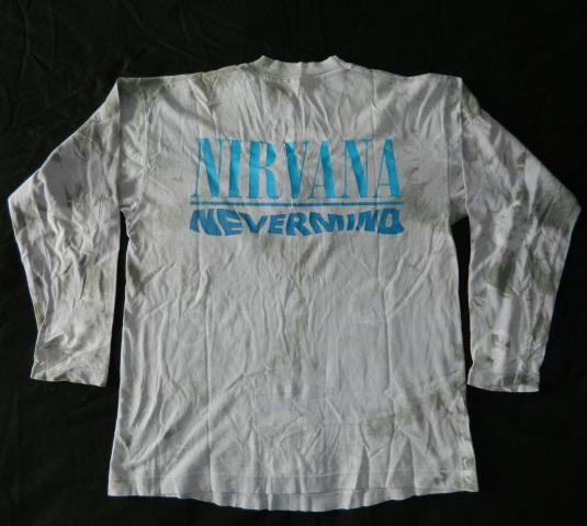 Vintage NIRVANA NEVERMIND TOUR 1991 L/S TIE DYE T-Shirt