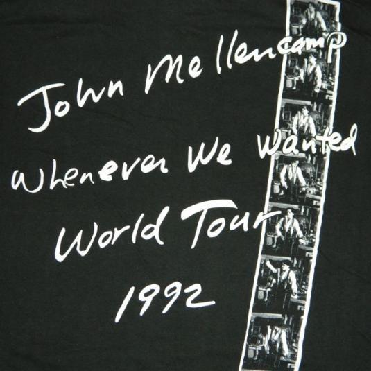 vintage JOHN COUGAR MELLENCAMP 1992 LOCAL CREW TOUR T-Shirt