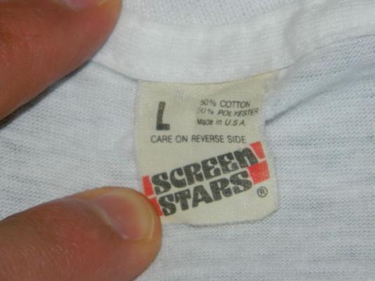 Vintage GENE LOVES JEZEBEL 1985 Immigrant Promo T-Shirt