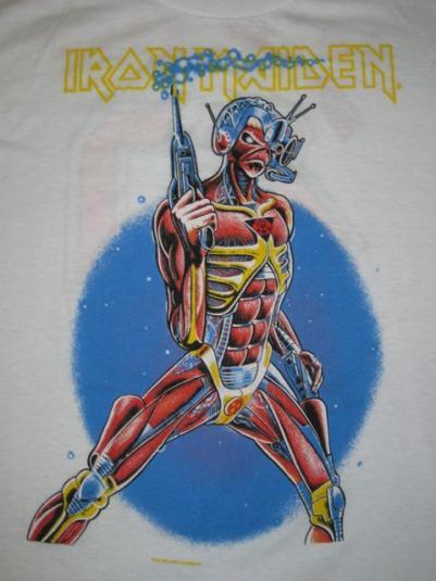 vintage IRON MAIDEN LOCAL KREW 1987 TOUR T-Shirt XL crew 80s