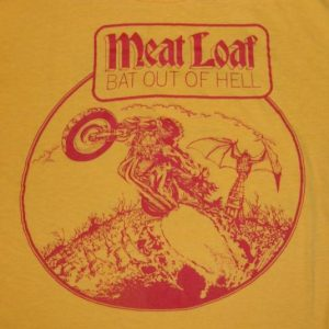 Vintage 1978 MEAT LOAF BAT OUT OF HELL TOUR T-Shirt 70s
