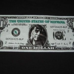 vintage NIRVANA 1991 NEVERMIND DOLLAR BILL L/S T-Shirt NOS