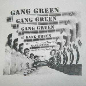 Vintage GANG GREEN 1984 PROMO T-Shirt 80s punk skate rock