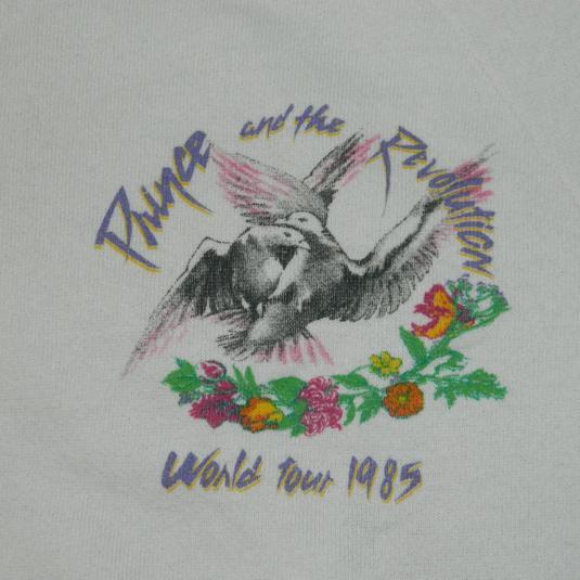 Vintage PRINCE 1985 PURPLE RAIN TOUR SWEATSHIRT 80S t-shirt