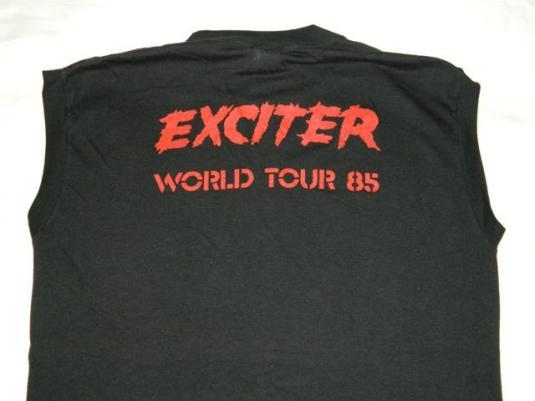 Vintage EXCITER 1985 WORLD TOUR T-Shirt XL 80s speed metal