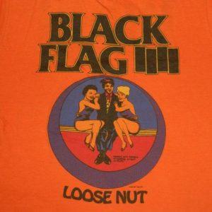 vintage BLACK FLAG 1985 LOOSE NUT TOUR T-Shirt LIVE 85 OG