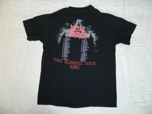 Vintage METAL CHURCH 1989 THE BLESSING Tour T-Shirt