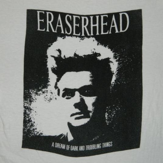 Vintage 70s ERASERHEAD MOVIE T-Shirt DAVID LYNCH film horror